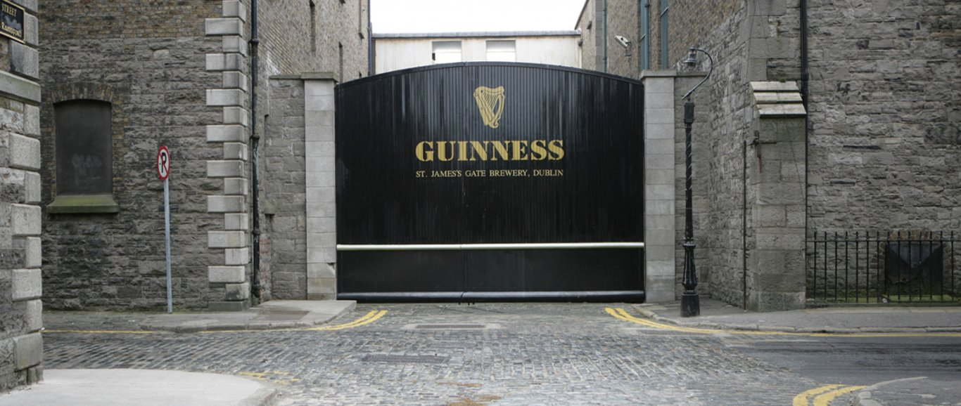 entrance to guinness storehouse