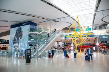 Image of Dublin airport interior