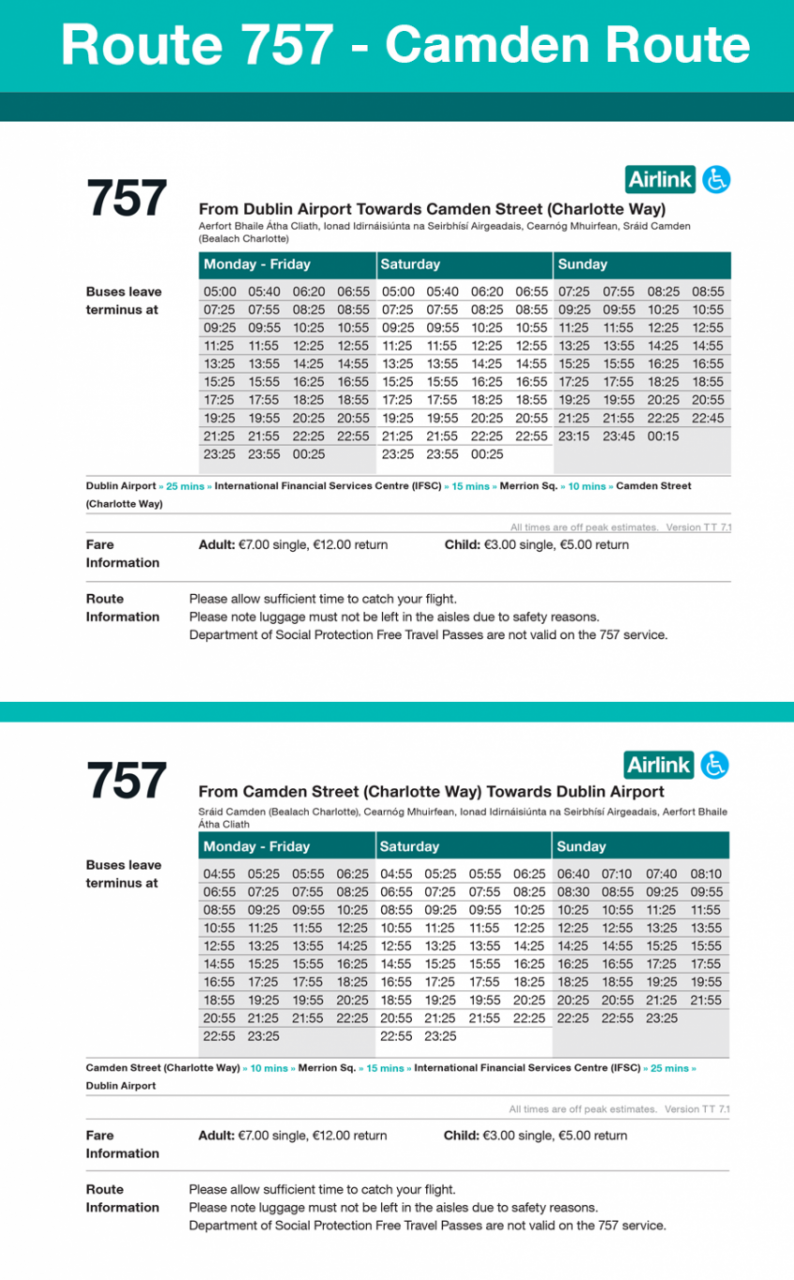 757 timetable