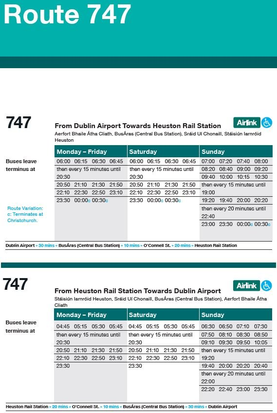 airport route 747 bus timetable
