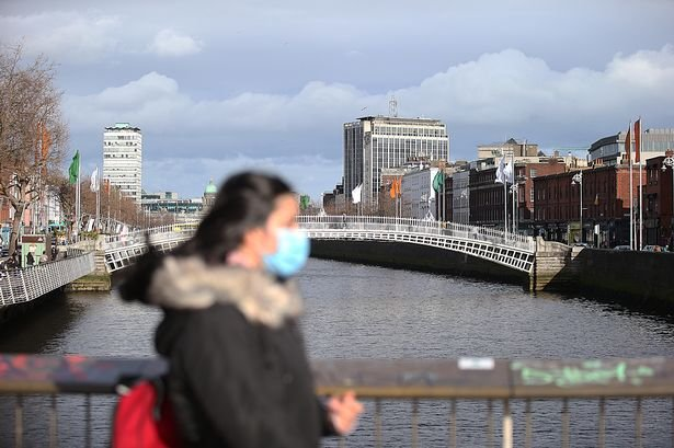 person wearing face mask in dublin