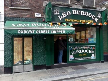 green exterior of dublin oldest chipper, leo burdocks