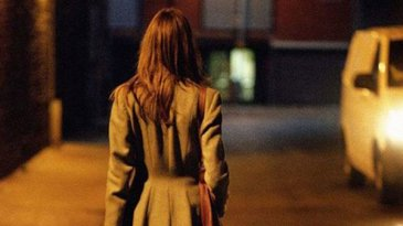 Woman Walking home alone at night