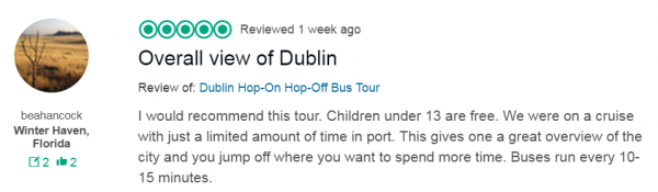cruise excursion dublin sightseeing overview