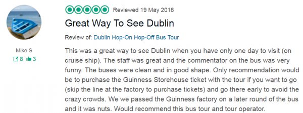 Great Way to see Dublin Cruise Excursion DoDublin Hop on Hop off tour review, great way to see dublin