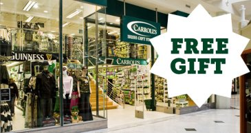 Carrolls Gift Shop Offer free gift
