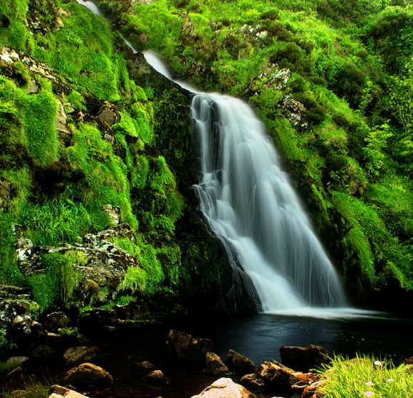 image of waterfall in Ireland
