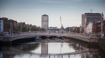 River liffey and ha'penny bridge