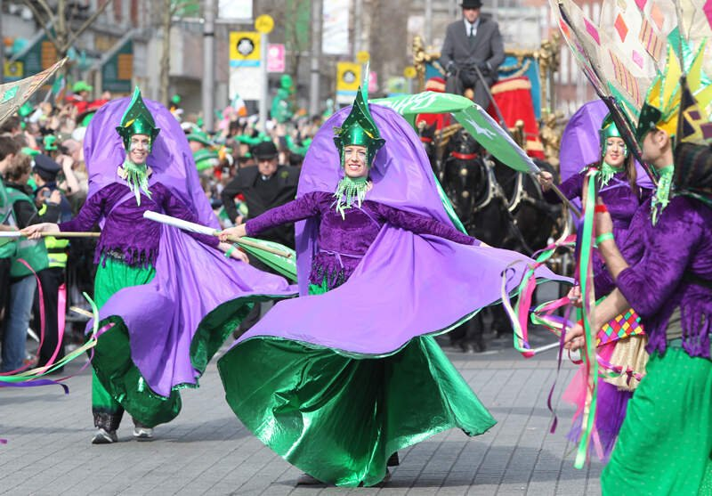 the st. patrick's day parade in dublin