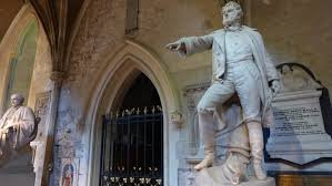 Statue of Sir bl guinness in st patricks cathedral in dublin