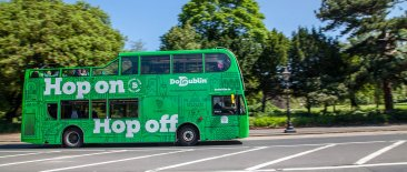Sightseeing tour bus at Dublin Zoo