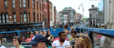 Dame Street from the Do Dublin Bus