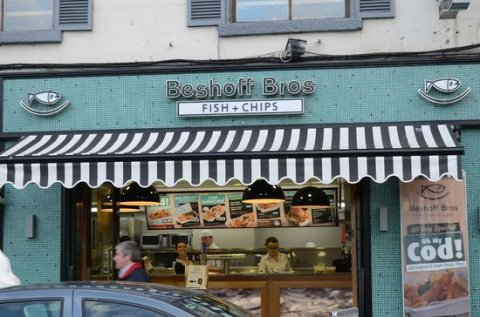 Beshoff Bros fish and chips shop in Howth