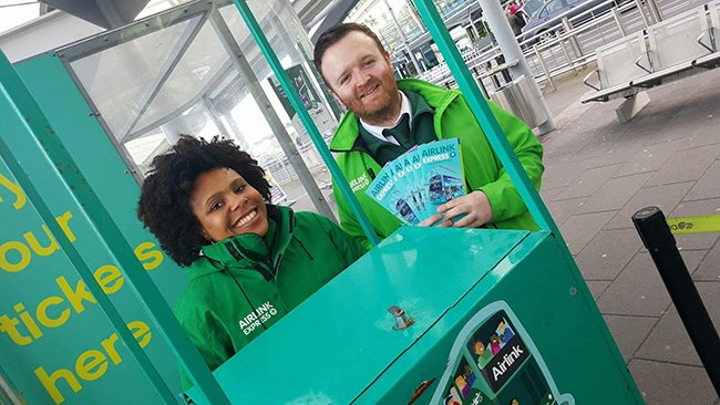 Meet & Greets at Airlink Express stop at Dublin Airport