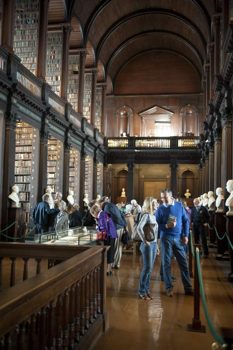 Crowds enjoying Trinity College Library and Book of Kells
