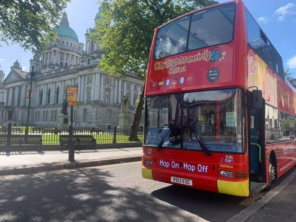 Belfast Hop On Hop Off Bus Tour at City Hall