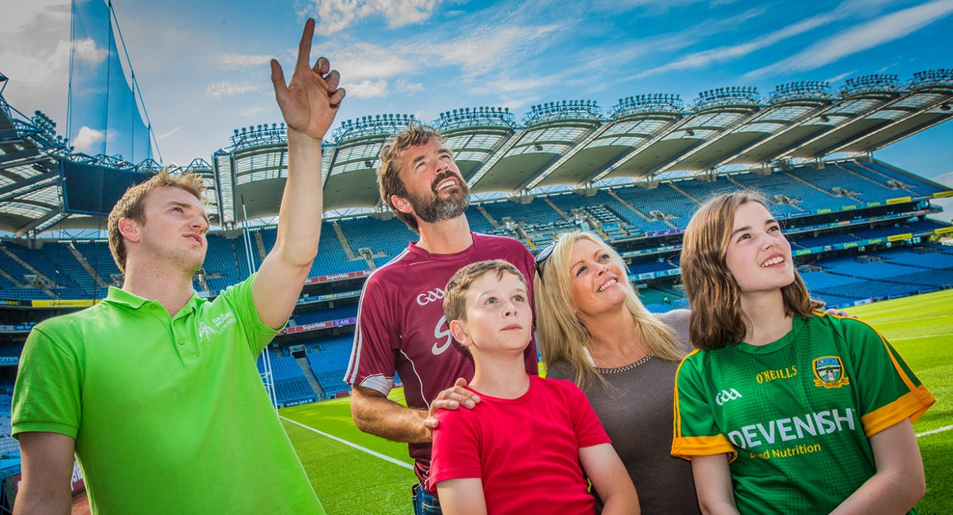 Family and Tour guide during a croke park tour