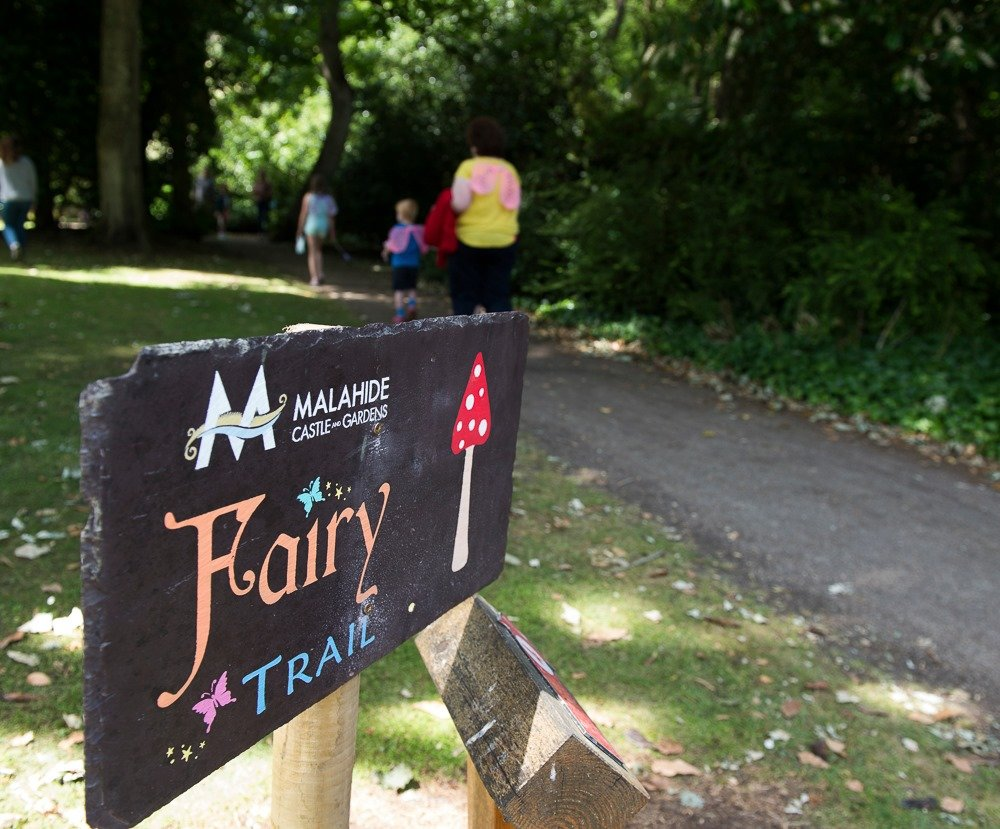 Sign on the Fairy Trail at Malahide Gardens