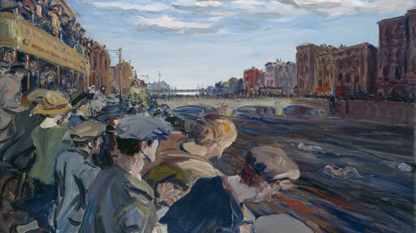 Jack B Yeats Liffey Swim at National Gallery of Ireland