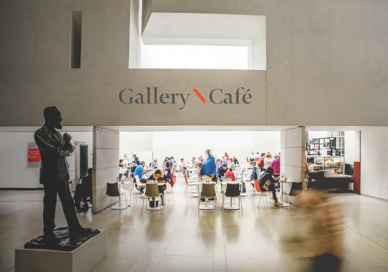 Hallway and Restaurant at National Gallery of Ireland