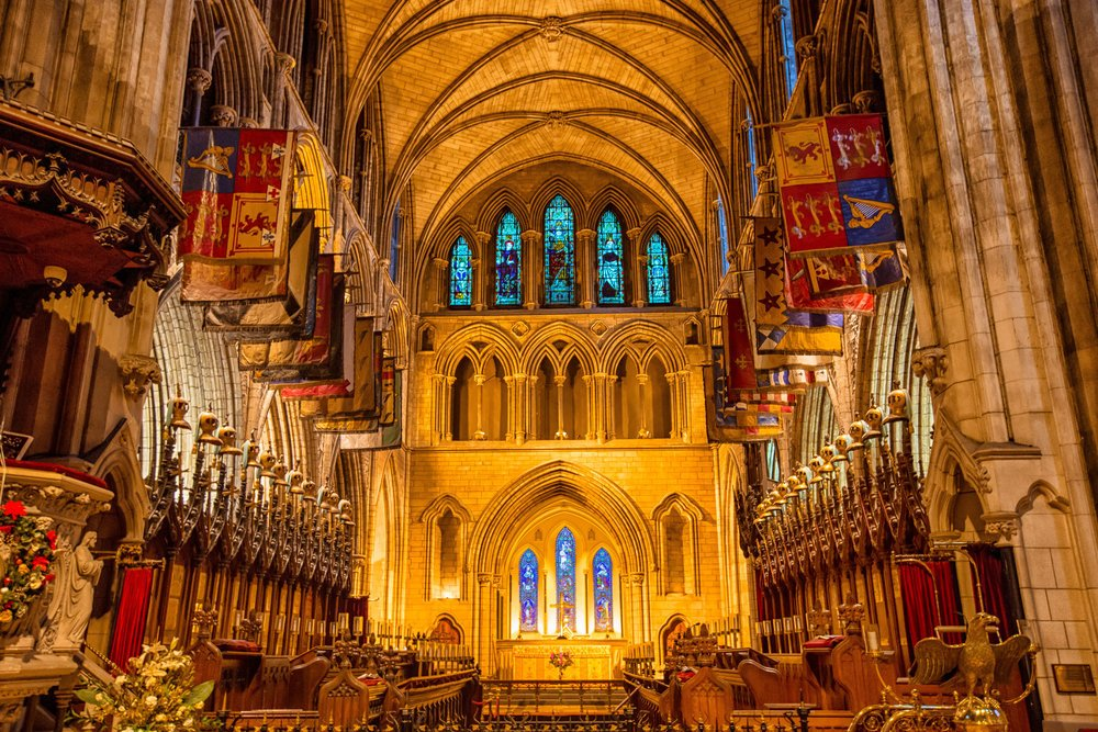 Interior of St. Patrick's Cathedral Dublin