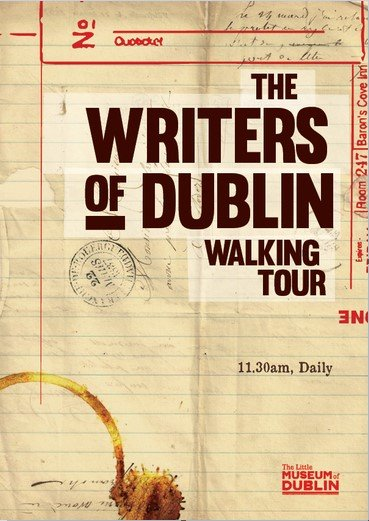Poster for The Writers of Dublin Walking Tour