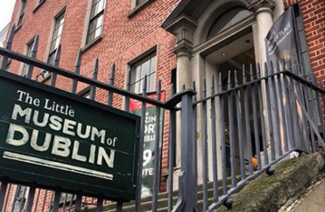 Exterior sign for little museum of dublin on st stephen's green