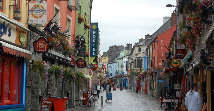 Pedestrian street in Galway City