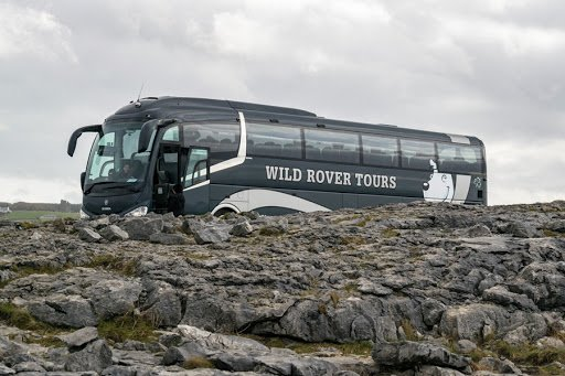 Wild Rover coach at the burren in county clare