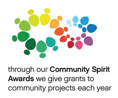 Community Spirit Awards Cube, through our community spirit awards we give grants to community projects each year