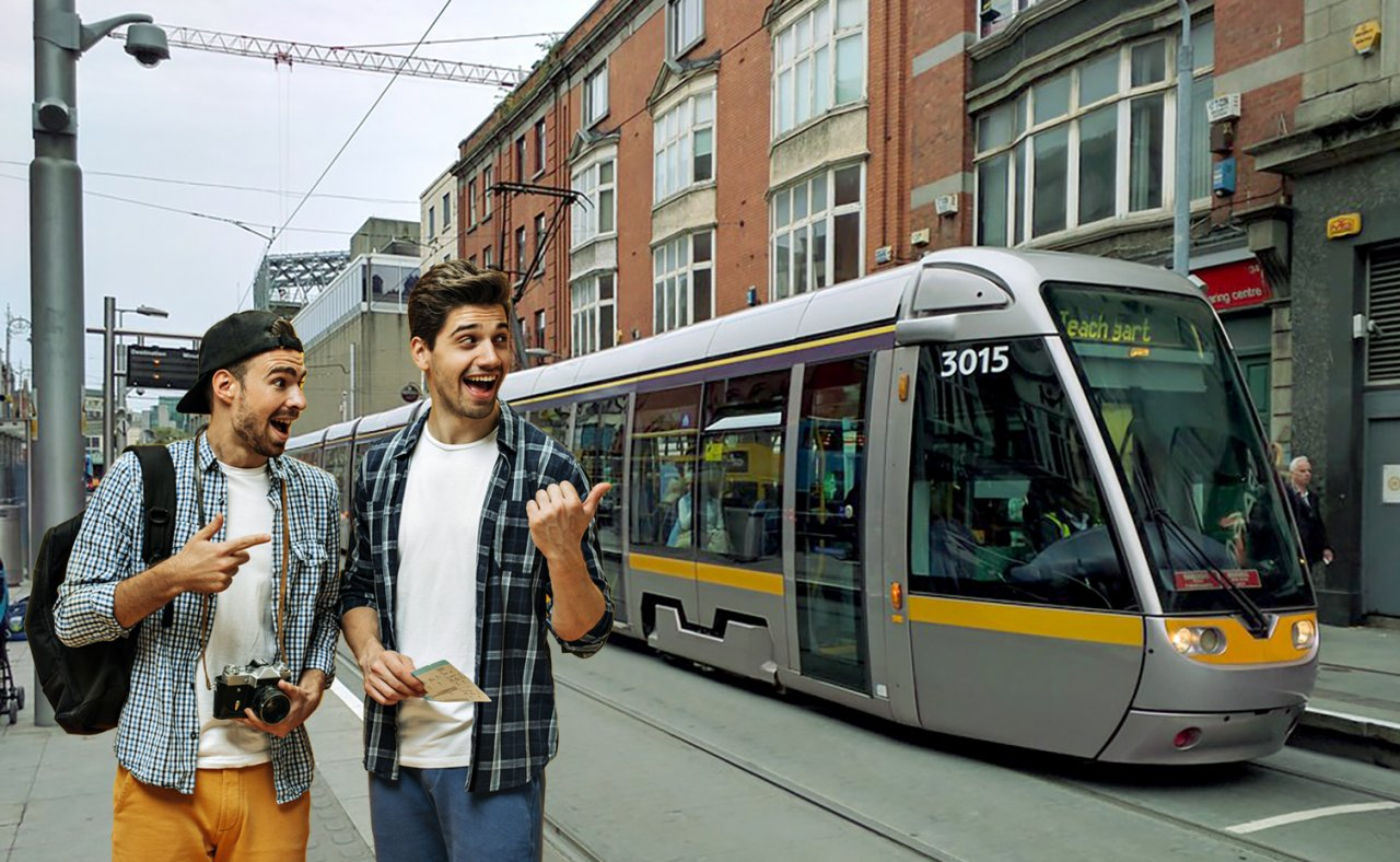Luas in St. Stephen's Green