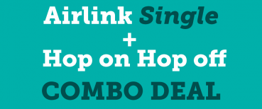 airlink and hop on hop off combo single deal