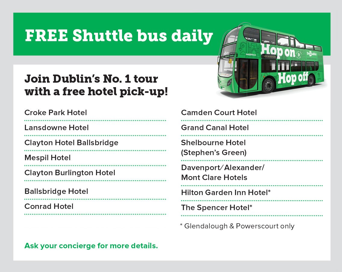 Shuttle Bus list